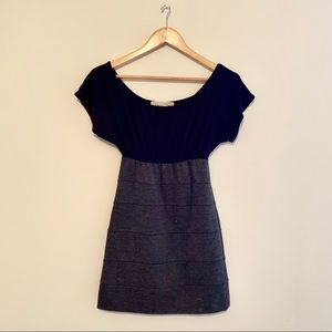 Form fitted Two Toned Short Sleeve Dress